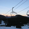 Sunset at Mount Norquay night skiing