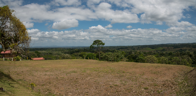 View over the green hill of Costa Rica.