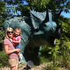 Eva & Catherine meet a Triceratops at Blackpool Zoo.