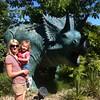 Eva & Catherine meet a Triceratops at Blackpool Zoo.