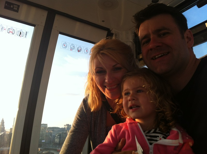 Howie family photo on the Liverpool Wheel.