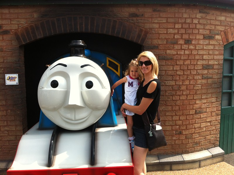 Eva & Catherine meeting Gordon at Drayton Manor.
