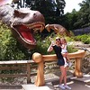 Terrified of a T-Rex at Dinoland, Drayton Manor.