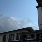 Aiguille du Midi in a crystal blue sky