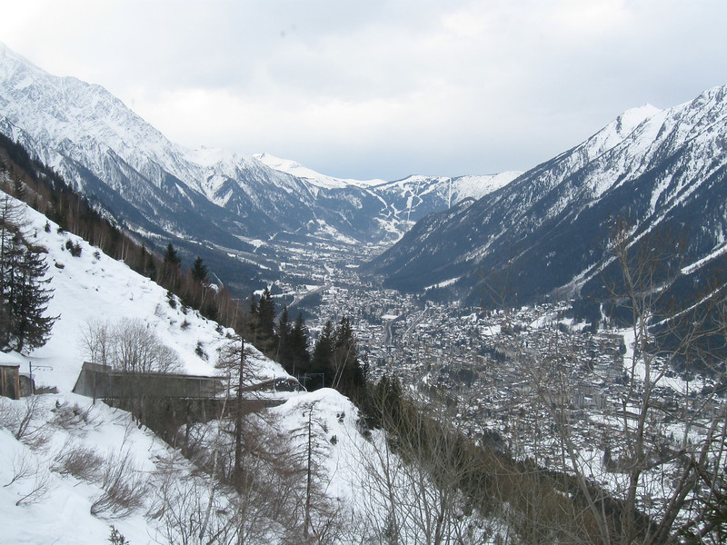 The Vallée Blanche from the Montenvers rack railway
