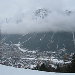 Looking across Chamonix from Les Planards ski area