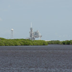 The Space Shuttle Endeavour on the pad at Launch Complex 39A, Kennedy Space Centre