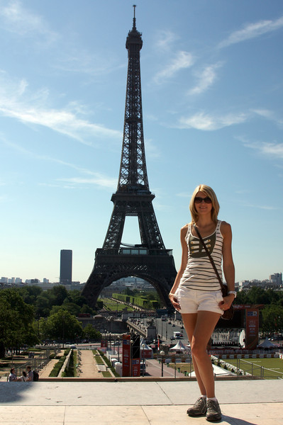 Catherine and the Eiffel Tower