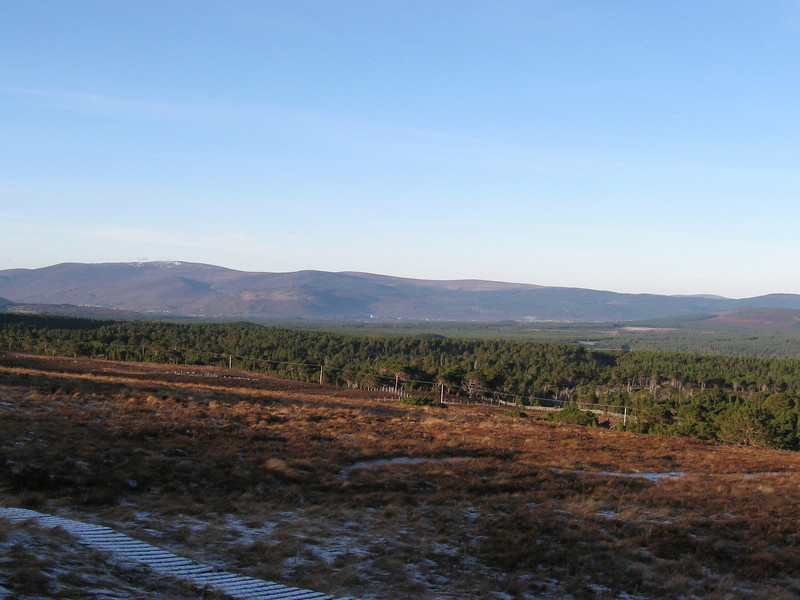 West towards Aviemore