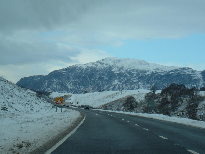 Southbound on the A9