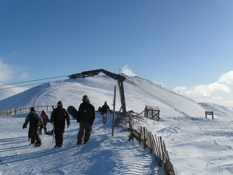 The view to Cairnwell Summit