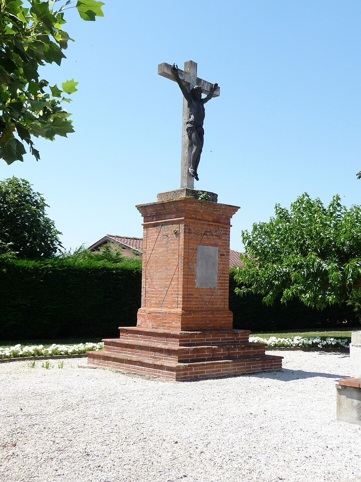 A memorial in a park that we stopped in Saint-Lys