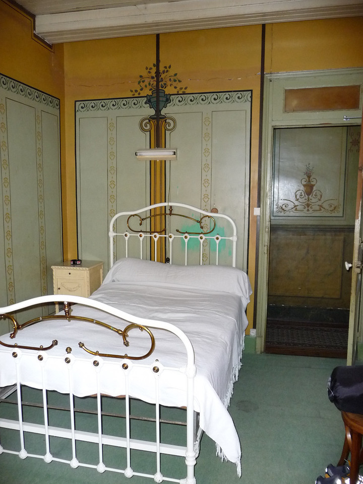 The hotel had not been updated since 1903. Neither had the bed.