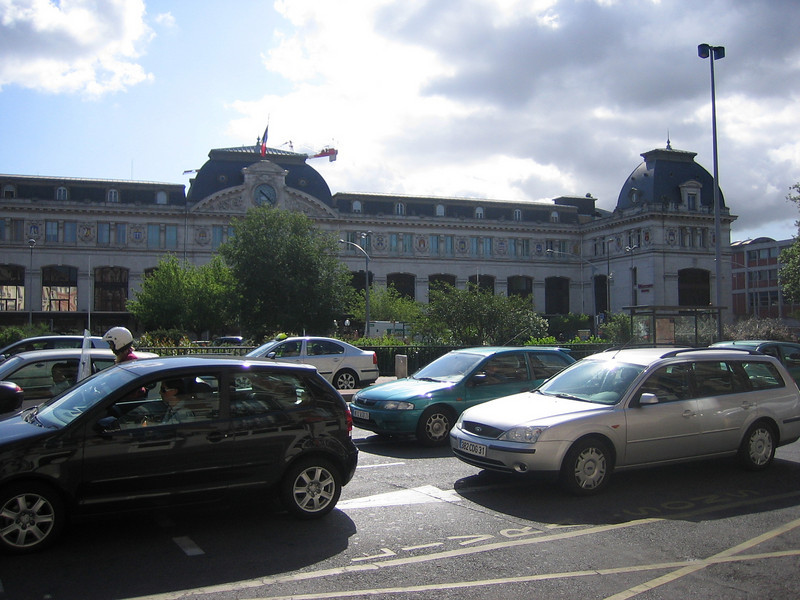 Train station in Toulouse. We thought a night train from Paris to Toulouse was a good idea. It wasn't.