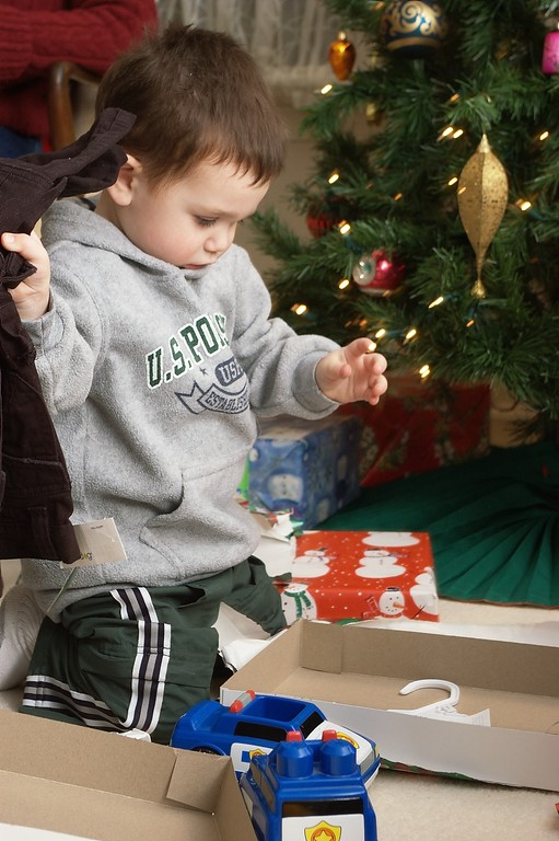 Brendon Opening Gifts
