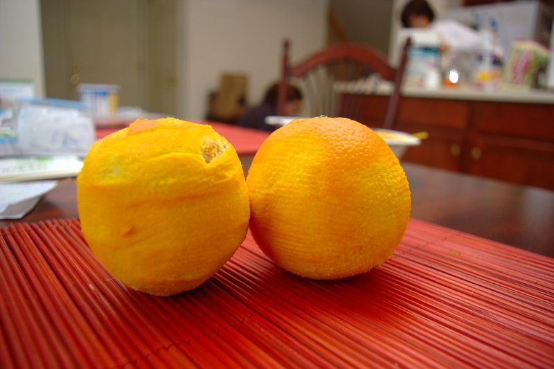 Freshly Zested Oranges.