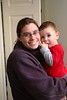 My nephew with his mother.