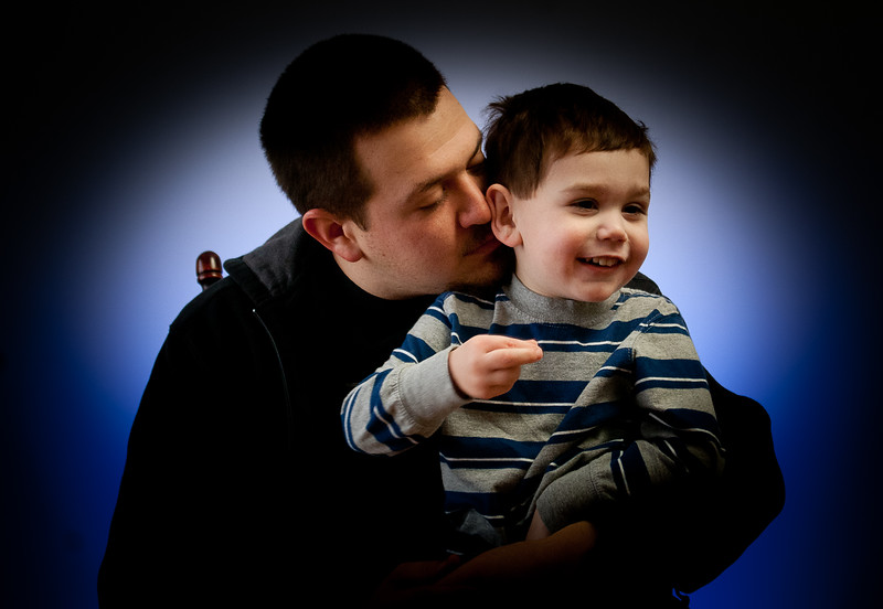 My Nephew Brendon with my Brother Mark.  Mark apparently is a squinter. In almost every photo he is squinting.