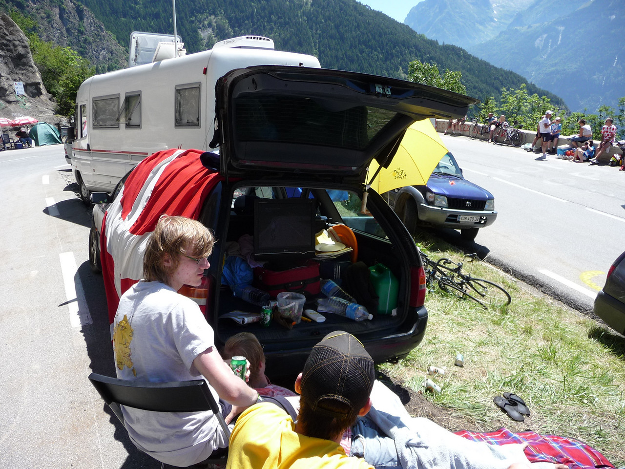 That camper had a TV in it as well. Location - Alpe d'Huez