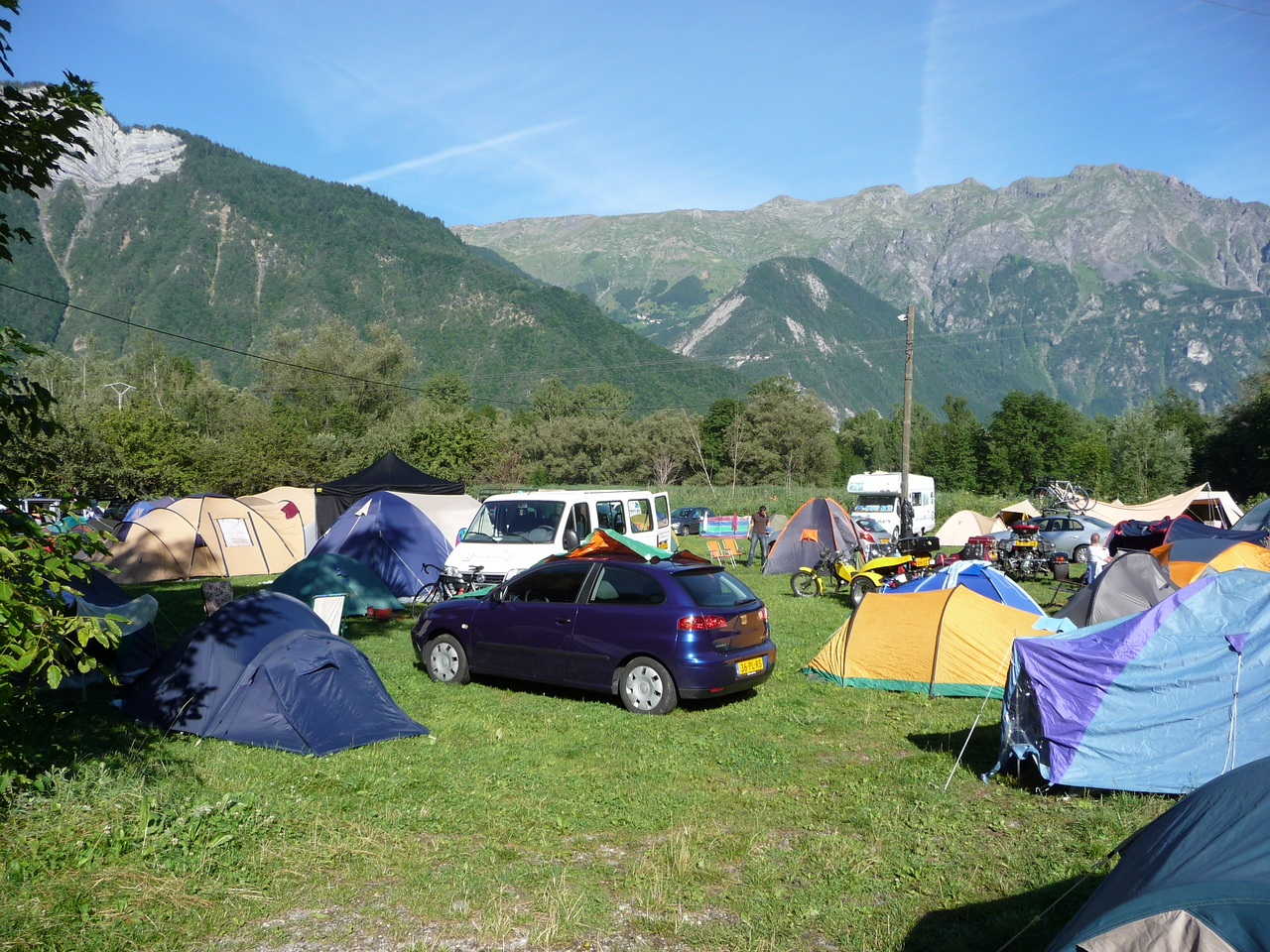 Our camping site. Ours is the little yellow tent.