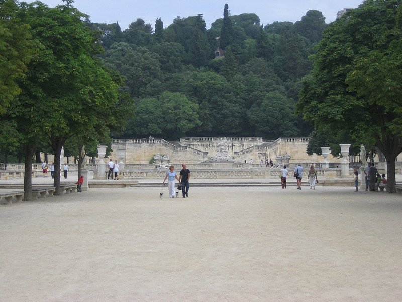 The park in Nimes - lots of canals & statues & ruins Location - Nimes