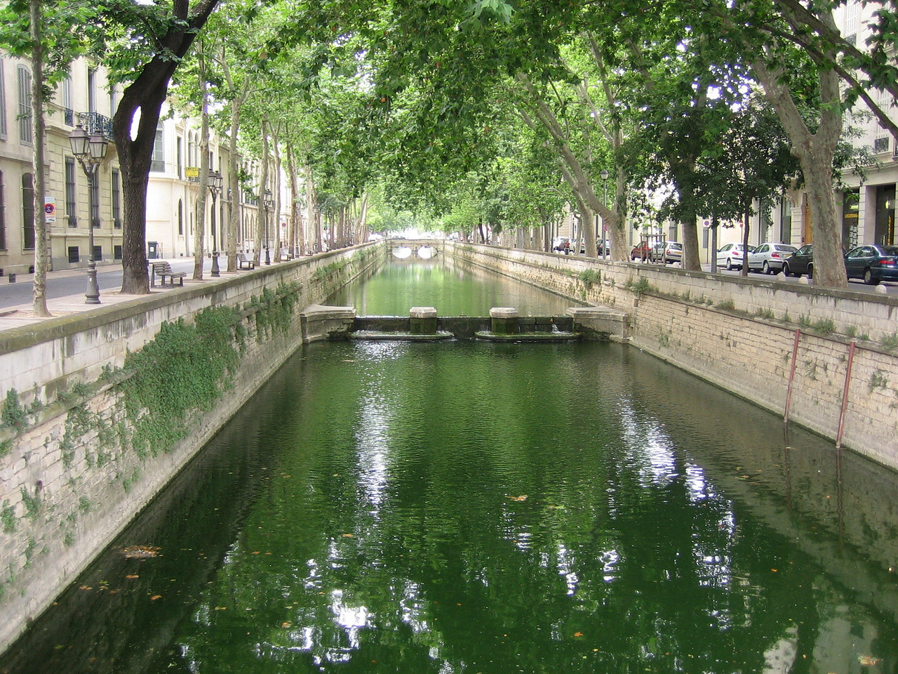 Canals built to supply textile workers with water for dying fabrics. Location - Nimes