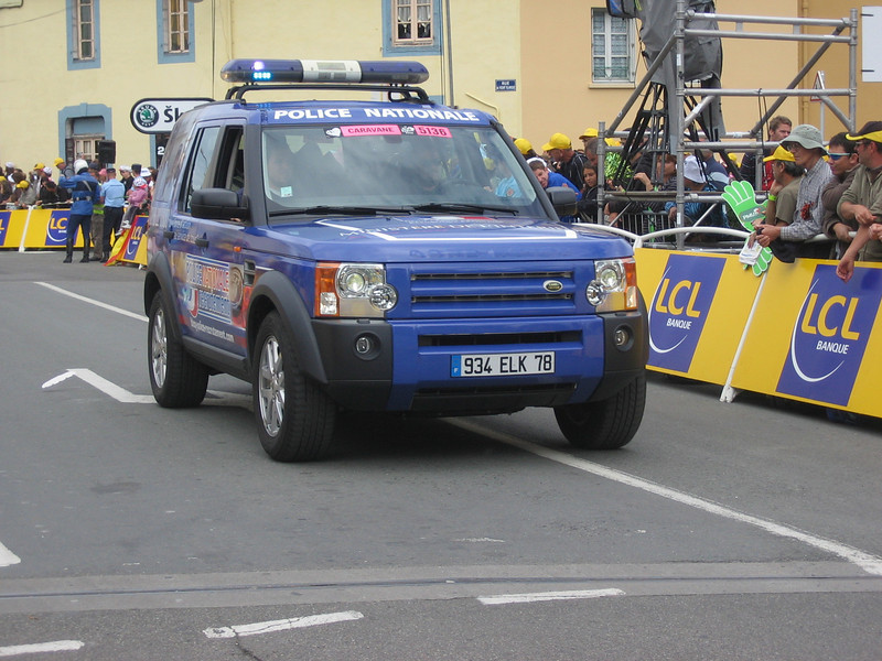 Gendemarie, National Police must have re-allocated half their force to provide route security for the tour. They were everywhere!