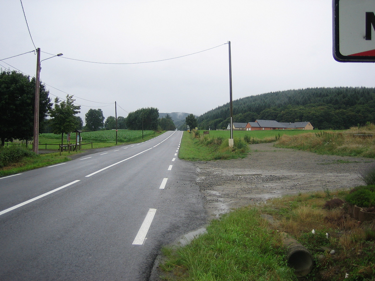 The road from Tarbes to Bagneres de Bigorre. A short day, but a rainy one!