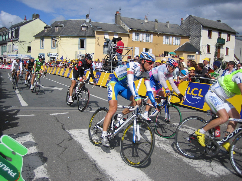 Must have been a cold stage cause a lot of riders were wearing jackets as they finished.