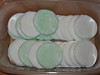 Peppermint creams made with fondant icing