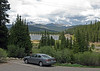 View  of Echo Lake from the car park at the Lodge