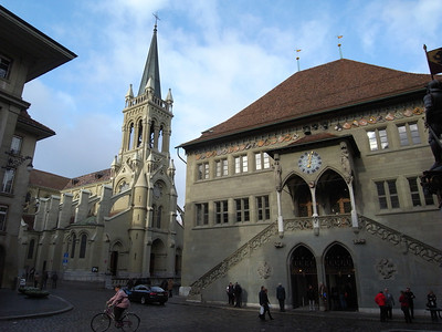 Bern Rathaus and St Katherines Church