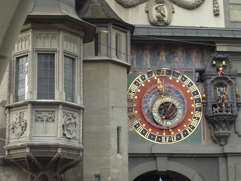 Bern Zytglogge - the more interesting east face with a 15th century astronomical clock.