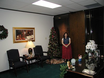 Office Lobby  - decorated w / Janet
