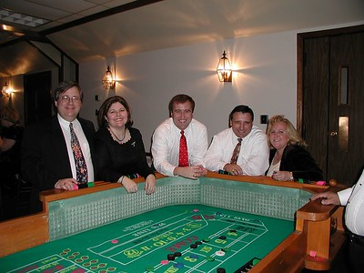 Dan, Janet, John, Harry & Wendy - playing craps