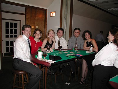 Mark, Alison, Amy, Daniel, David, & Katrice - playing blackjack