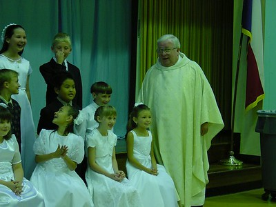 1st Communion class - cracking up