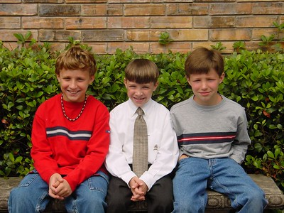 Connor w/ brothers