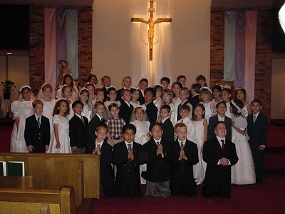 2nd Grade class at the Alter