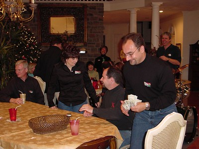 Doug Berg, Diane Donovan, Pat Donovan & Mark Pizzino (counting his cash!)