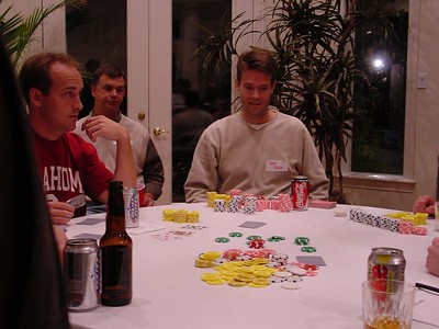 "Aaron & Jeff maintaining their ""poker faces"" while going for a sizable pot"