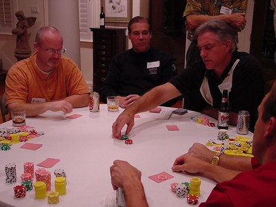 Dave - placing a big bet on his pocket cards