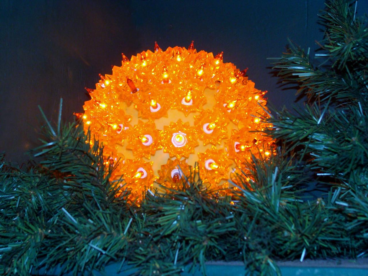 Orange Holiday Light Ball