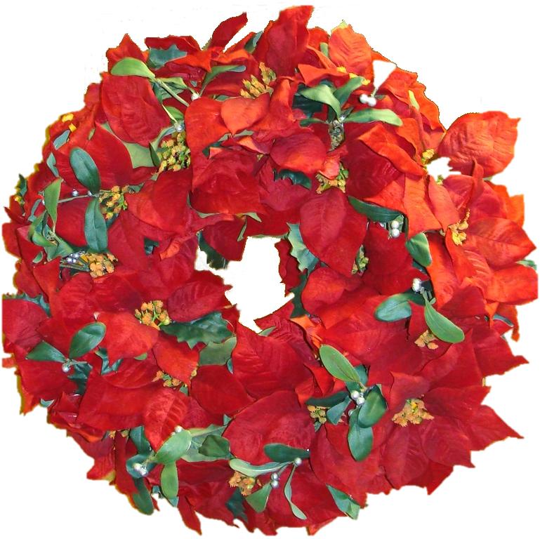 Red Poinsettia Wreath