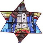 Stained Glass Jewish Star