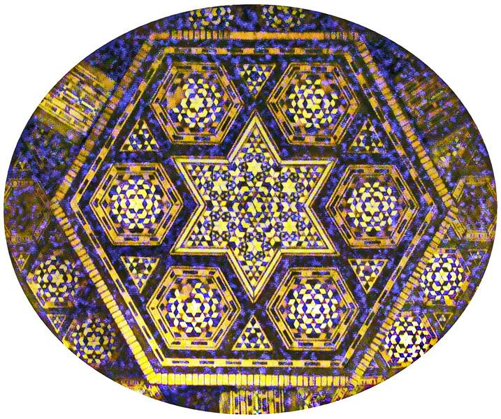 Star of David Inlay Design