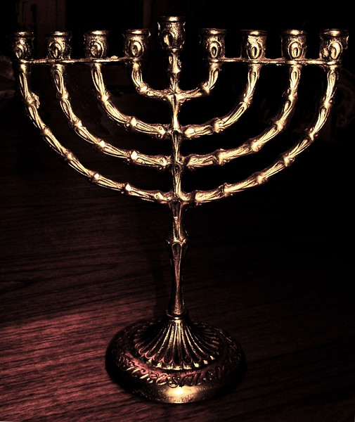 Traditional Hanukah Menorah