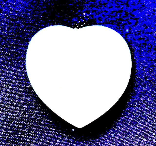 Heart on Blue Denim