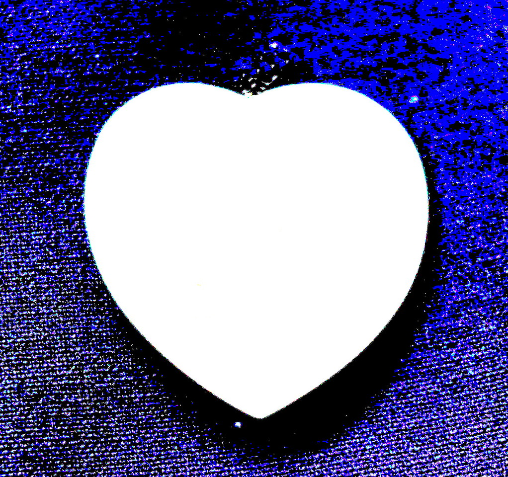 Heart on Blue Denim