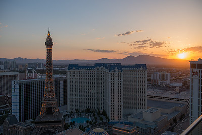 Sunrise over the strip